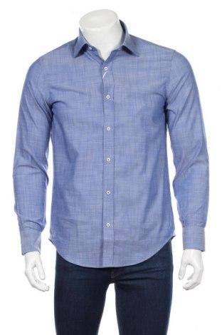 Мъжка риза Gutteridge, Размер M, Цвят Син, 97% памук, 3% еластан, Цена 41,65лв.
