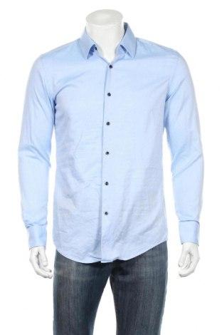 Ανδρικό πουκάμισο Hugo Boss, Μέγεθος M, Χρώμα Μπλέ, Βαμβάκι, Τιμή 81,96€