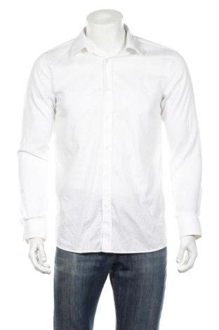 Ανδρικό πουκάμισο Hugo Boss, Μέγεθος M, Χρώμα Λευκό, Βαμβάκι, Τιμή 81,96€
