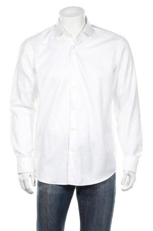 Ανδρικό πουκάμισο Hugo Boss, Μέγεθος L, Χρώμα Λευκό, Βαμβάκι, Τιμή 81,96€
