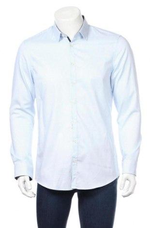 Ανδρικό πουκάμισο Jake*s, Μέγεθος L, Χρώμα Μπλέ, 97% βαμβάκι, 3% ελαστάνη, Τιμή 11,55€