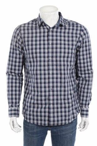 Мъжка риза Michael Kors, Размер M, Цвят Син, 100% памук, Цена 55,86лв.