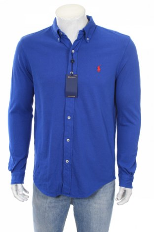 Мъжка риза Ralph Lauren, Размер M, Цвят Син, 100% памук, Цена 80,92лв.