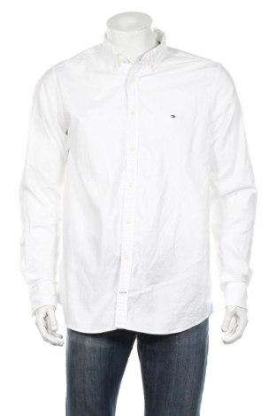 Ανδρικό πουκάμισο Tommy Hilfiger, Μέγεθος XL, Χρώμα Λευκό, 98% βαμβάκι, 2% ελαστάνη, Τιμή 51,03€