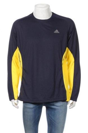 Ανδρική αθλητική μπλούζα Adidas, Μέγεθος XL, Χρώμα Μπλέ, Πολυεστέρας, Τιμή 15,28€