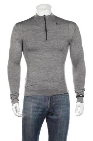 Ανδρική αθλητική μπλούζα Craft, Μέγεθος S, Χρώμα Γκρί, 67% πολυεστέρας, 31% πολυαμίδη, 2% ελαστάνη, Τιμή 23,71€