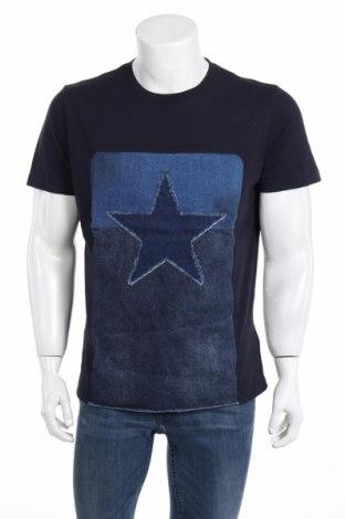 Tricou de bărbați Diesel, Mărime L, Culoare Albastru, Bumbac, Preț 187,58 Lei