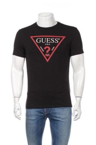 Ανδρικό t-shirt Guess, Μέγεθος L, Χρώμα Μαύρο, 95% βαμβάκι, 5% ελαστάνη, Τιμή 42,27€