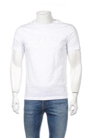 Ανδρικό t-shirt Guess, Μέγεθος M, Χρώμα Λευκό, Βαμβάκι, Τιμή 42,27€