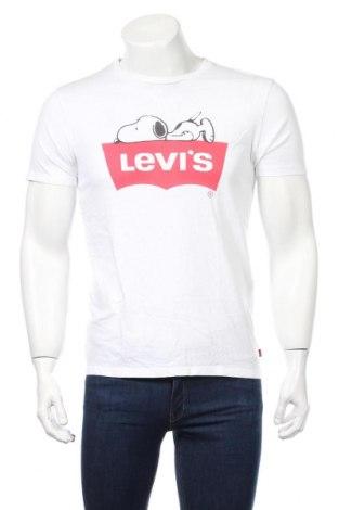 Мъжка тениска Levi's, Размер S, Цвят Бял, Памук, Цена 59,00лв.
