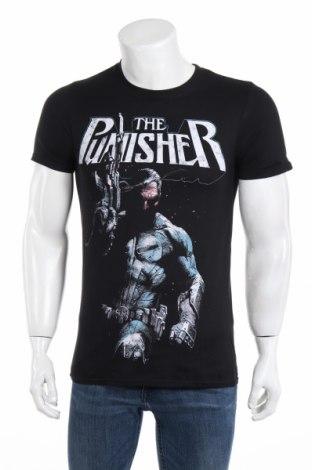 Мъжка тениска Marvel, Размер S, Цвят Черен, Памук, Цена 25,92лв.