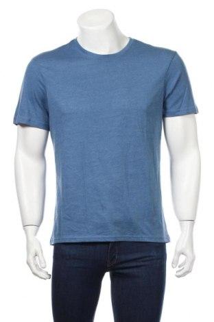 Męski T-shirt Montego, Rozmiar L, Kolor Niebieski, 60% bawełna, 40% poliester, Cena 38,40zł