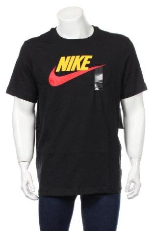 Мъжка тениска Nike, Размер L, Цвят Черен, Памук, Цена 49,68лв.