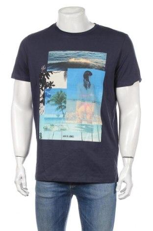Мъжка тениска Originals By Jack & Jones, Размер L, Цвят Син, Памук, Цена 28,08лв.