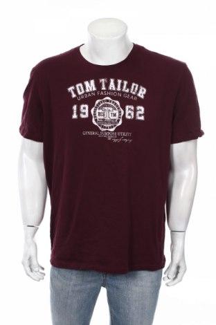 Ανδρικό t-shirt Tom Tailor, Μέγεθος 3XL, Χρώμα Κόκκινο, Βαμβάκι, Τιμή 20,10€