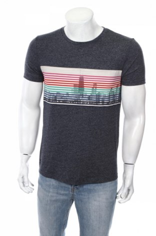 Мъжка тениска Tom Tailor, Размер M, Цвят Син, 50% памук, 50% полиестер, Цена 23,04лв.