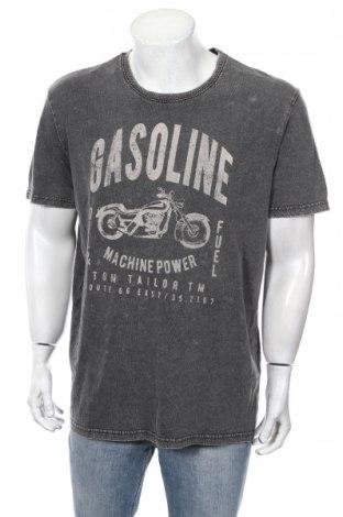 Мъжка тениска Tom Tailor, Размер XL, Цвят Сив, Памук, Цена 28,08лв.