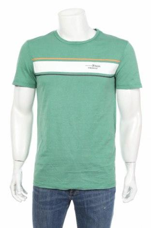Мъжка тениска Tom Tailor, Размер M, Цвят Зелен, Памук, Цена 20,16лв.