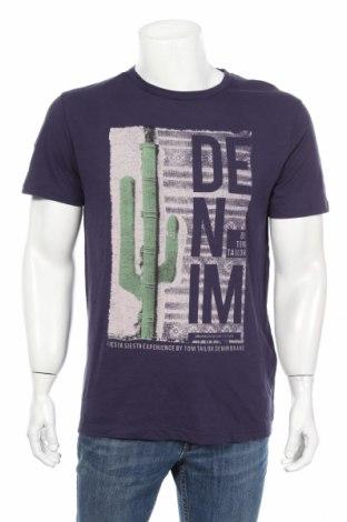 Мъжка тениска Tom Tailor, Размер L, Цвят Син, Памук, Цена 23,04лв.