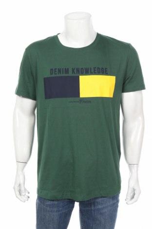 Мъжка тениска Tom Tailor, Размер XL, Цвят Зелен, Памук, Цена 20,16лв.