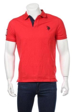 Tricou de bărbați U.S. Polo Assn., Mărime M, Culoare Roșu, Bumbac, Preț 149,68 Lei