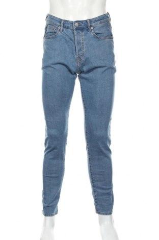 Pánské džíny  H&M, Rozměr M, Barva Modrá, 85% bavlna, 14% polyester, 1% elastan, Cena  328,00Kč