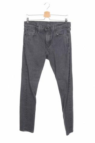 Мъжки дънки Levi's, Размер M, Цвят Сив, 99% памук, 1% еластан, Цена 33,96лв.