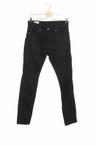 Мъжки дънки Levi's, Размер S, Цвят Черен, 99% памук, 1% еластан, Цена 44,25лв.