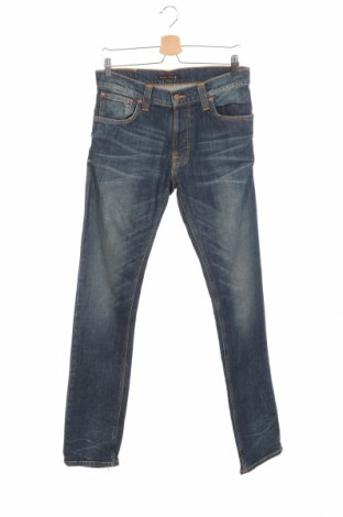 Мъжки дънки Nudie Jeans Co, Размер M, Цвят Син, 99% памук, 1% еластан, Цена 44,25лв.