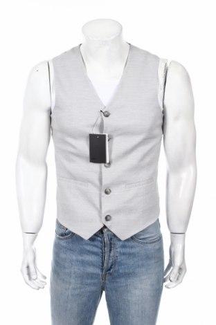 Pánska vesta  ASOS, Veľkosť M, Farba Sivá, 64% polyester, 33% viskóza, 3% elastan, Cena  32,78€