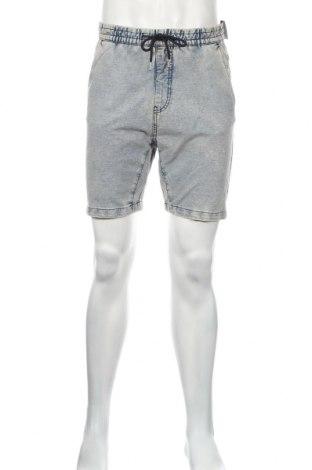 Pánske kraťasy  Bershka, Veľkosť M, Farba Modrá, 94% bavlna, 6% elastan, Cena  13,39€