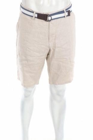 Pánske kraťasy  Christian Berg, Veľkosť L, Farba Béžová, 100% ľan, Cena  26,80€