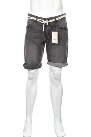 Мъжки къс панталон Rebel, Размер L, Цвят Сив, 98% памук, 2% еластан, Цена 35,28лв.