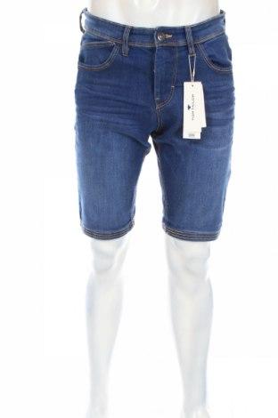Мъжки къс панталон Tom Tailor, Размер M, Цвят Син, 70% памук, 28% полиестер, 2% еластан, Цена 37,44лв.