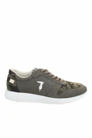 Încălțăminte bărbătească Trussardi Jeans, Mărime 45, Culoare Verde, Velur natural, textil, Preț 681,58 Lei