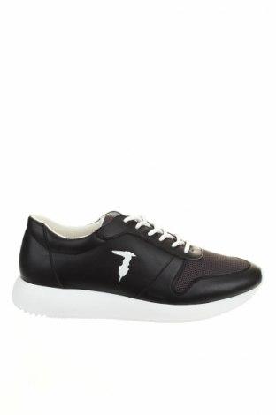 Pánske topánky Trussardi Jeans, Veľkosť 43, Farba Čierna, Eko koža , textil, Cena  118,04€