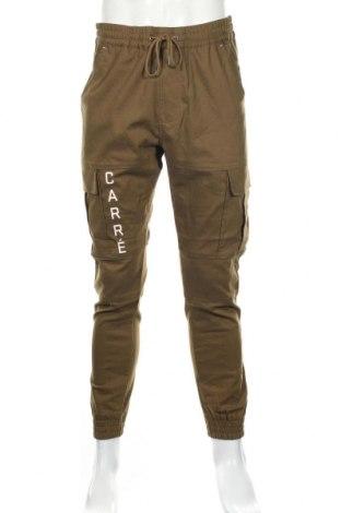 Ανδρικό παντελόνι Carre, Μέγεθος L, Χρώμα Πράσινο, 69% πολυεστέρας, 28% βαμβάκι, 3% ελαστάνη, Τιμή 22,28€