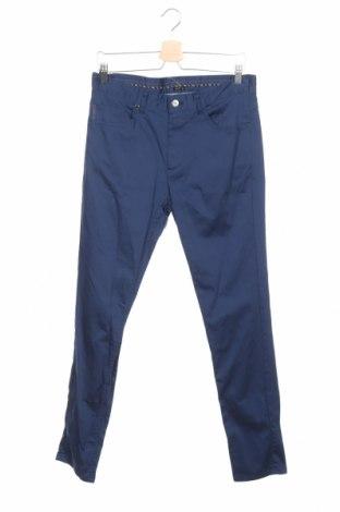 Мъжки панталон Zara, Размер M, Цвят Син, 98% памук, 2% еластан, Цена 27,60лв.