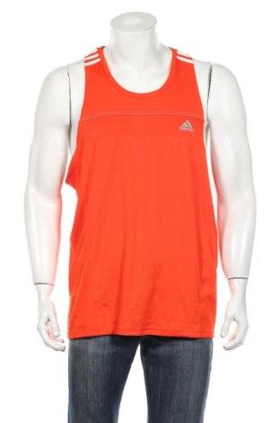 Ανδρική αμάνικη μπλούζα Adidas, Μέγεθος XL, Χρώμα Πορτοκαλί, Πολυεστέρας, Τιμή 17,19€