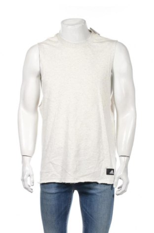 Ανδρική αμάνικη μπλούζα Adidas, Μέγεθος L, Χρώμα  Μπέζ, 70% βαμβάκι, 30% πολυεστέρας, Τιμή 20,36€