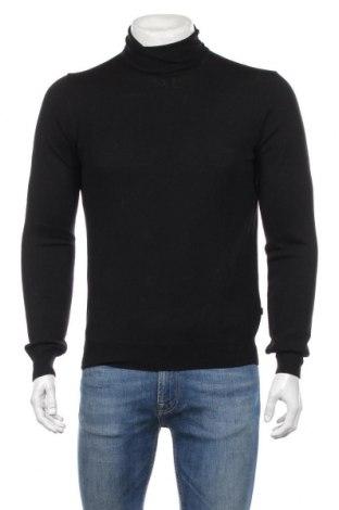 Мъжки пуловер J.Lindeberg, Размер S, Цвят Черен, 100% мерино, Цена 99,00лв.
