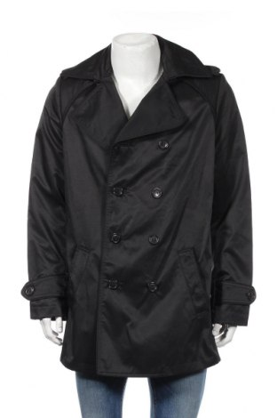 Pánský přechodný kabát  H&M, Rozměr L, Barva Černá, 51% polyamide, 49% bavlna, Cena  667,00Kč