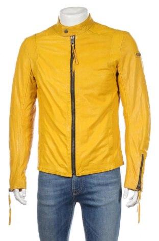Pánská kožená bunda  Tigha, Rozměr M, Barva Žlutá, Pravá kůže, Cena  5643,00Kč
