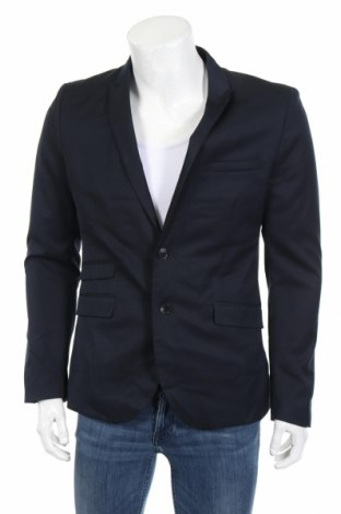 Ανδρικό σακάκι H&M, Μέγεθος L, Χρώμα Μπλέ, 73% πολυεστέρας, 27% βισκόζη, Τιμή 16,89€