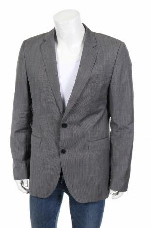 Мъжко сако Hugo Boss, Размер L, Цвят Сив, Вълна, Цена 83,70лв.