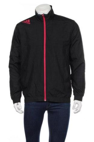 Ανδρικό αθλητικό μπουφάν Adidas, Μέγεθος M, Χρώμα Μαύρο, Πολυεστέρας, Τιμή 28,65€