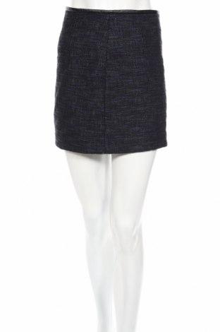 Пола Zara, Размер XS, Цвят Син, Памук, еко кожа, Цена 28,81лв.