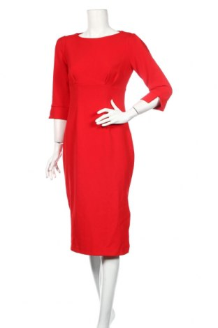 Šaty  Closet London, Veľkosť M, Farba Červená, 80% polyester, 17% viskóza, 3% elastan, Cena  33,03€