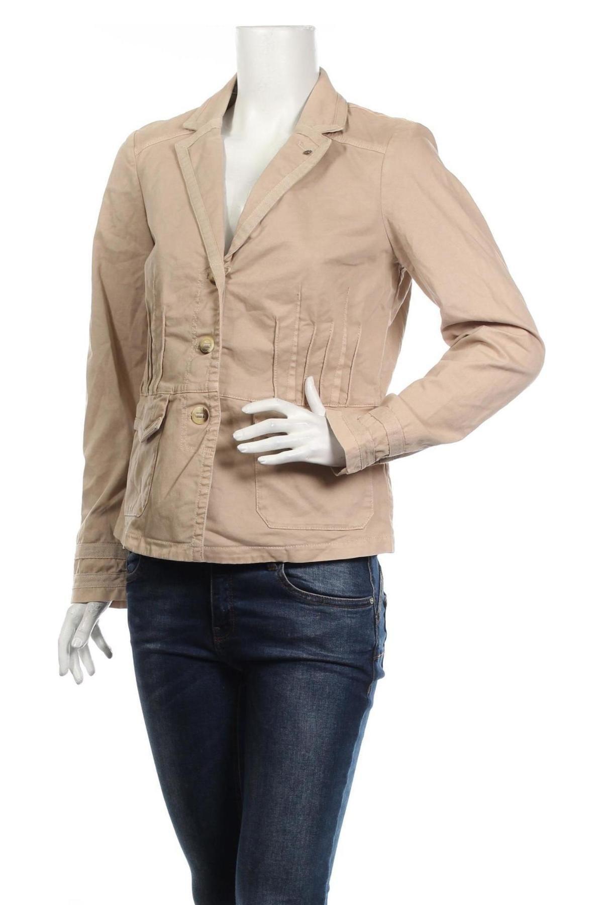 Дамско яке Tom Tailor, Размер M, Цвят Бежов, 97% памук, 3% еластан, Цена 55,65лв.
