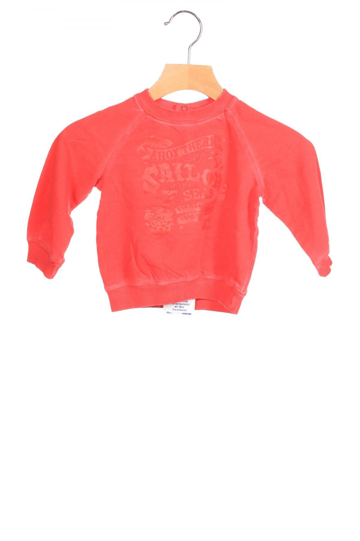 Детска блуза Original Marines, Размер 3-6m/ 62-68 см, Цвят Червен, Памук, Цена 8,97лв.